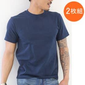 【Hanes/ヘインズ】tシャツ 2枚組クルーネック(丸首)Tシャツ H5180-2 (ネイビー【370】)