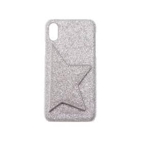 Star Point Glitter iPhonecase 【スター ポイント グリッター アイフォンケース】※iPhone X.XS対応 (シルバー)