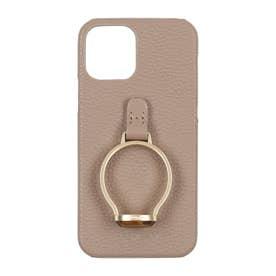 HASHIBAMI×Vin Gem Stone Ring iPhonecase 【天然石リング アイフォンケース】 ※iPhone 12/12Pro (グレー)