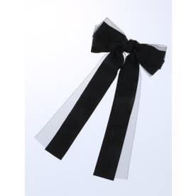 オーガンジーロングリボンバレッタ (Black)