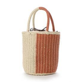 かごバッグ レディース トートバッグ 大人 浴衣 巾着 コンパクト ミニバッグ Half Crochet Bag (ナチュラル)