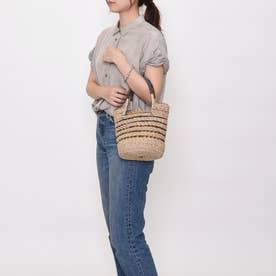 かごバッグ レディース トートバッグ 大人 巾着 天然素材 透かし Peep Basket (ナチュラル)