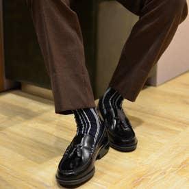 メンズ牛革タッセルローファー(3E)(ブラック)