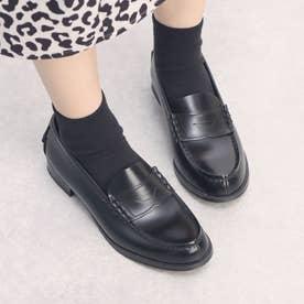 レディス牛革コインローファー(1E)(ブラック) (ブラック)