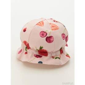 [ベビー]ベリーチェリープリント帽子 (ピンク)