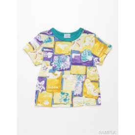 [ベビー・ユニセックス]シータイルプリント半袖Tシャツ (イエロー)