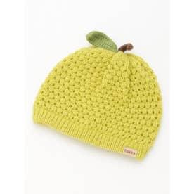 [ベビー]フルーツモチーフニット帽子(あったか) (ライトグリーン)