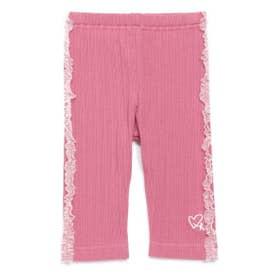 [ベビー]フリル付き6分丈レギンスパンツ (ピンク)