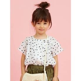 ドットプリント半袖シャツ (オフホワイト)