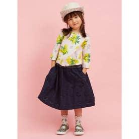 刺繍レーススカート (ネイビー)
