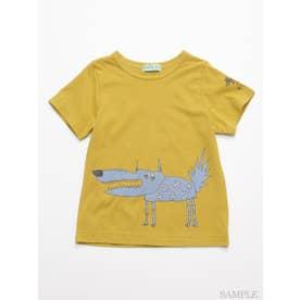 HAKKA45周年記念「スイミーデザインラボ」コラボ アニマルプリント半袖Tシャツ (イエロー)