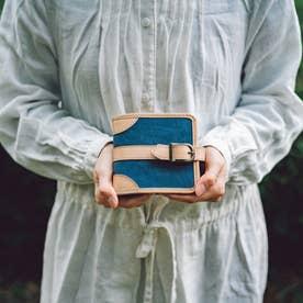 帆布の二つ折り財布 キャンバスウォレット(ネイビー)