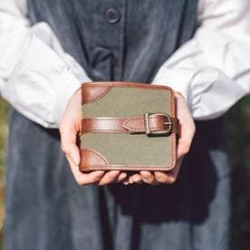 帆布の二つ折り財布 キャンバスウォレット(カーキ)