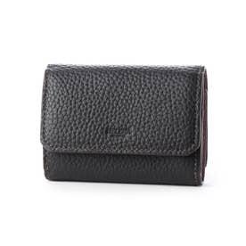 シャーレ三つ折り財布 (BK×PB)