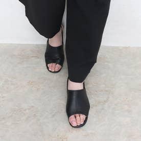 ソフト牛革 3Eサンダル (ブラック)