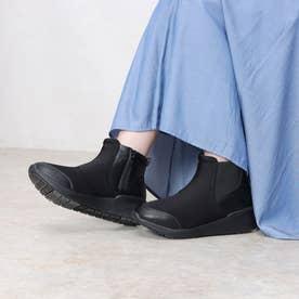 121236 レディース 撥水ブーツ【晴雨兼用】 (ブラック)