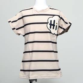 キッズ ハイ ボーダー Tシャツ (BLACK)