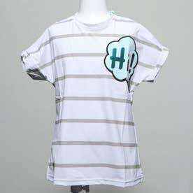 キッズ ハイ ボーダー Tシャツ (GRAY)