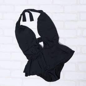 ディープ ホルター ワンピース (BLACK)【返品不可商品】
