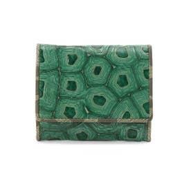 COLLABORAZIONE(コラボラツィオーネ) 薄型ミニ財布 (ダークグリーン)