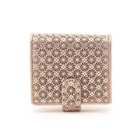 GIRASOLE(ジラソーレ)薄型二つ折り財布 (ピンク)
