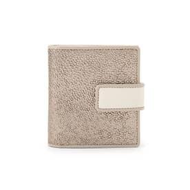 PLATINO(プラーティノ)薄型二つ折り財布 (ゴールド)