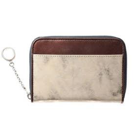 LANGHE(ランゲ)ファスナー式二つ折り財布 (ゴールド)