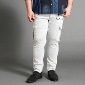<大きいサイズ>ランダムポケットカーゴパンツ (09ホワイト)