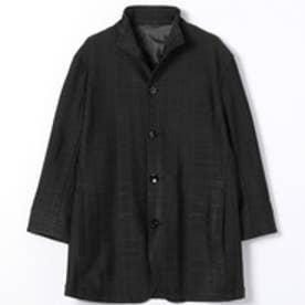 スタンドカラー7分袖ジャケット (49ブラック)