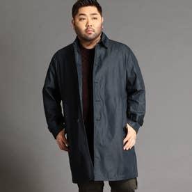 <大きいサイズ>ステンカラーコート (67ネイビー)