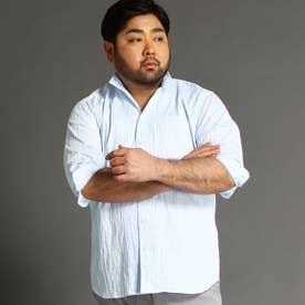 <大きいサイズ>タックジャガードシャツ (64サックス)