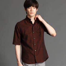 イタリアンカラー5分袖シャツ (10オレンジ)