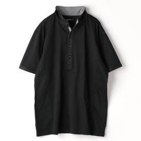 <大きいサイズ>イタリアンカラ-ポロシャツ (49ブラック)