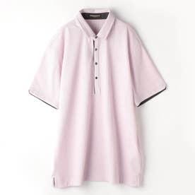<大きいサイズ>ランダムテレコシルケットポロシャツ (88ラベンダー)