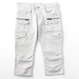 6分丈多ポケットカーゴパンツ (09ホワイト)