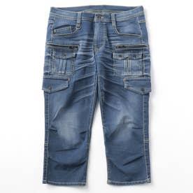 6分丈多ポケットカーゴパンツ (60ブルー)