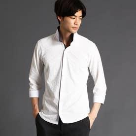 リンクス市松柄カットソーシャツ (09ホワイト)