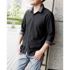 リンクス市松柄カットソーシャツ (49ブラック)