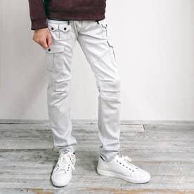 多ポケットカーゴパンツ (09ホワイト)
