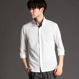 チドリメッシュジャカ-ドカットソーシャツ (09ホワイト)