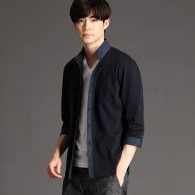 チドリメッシュジャカ-ドカットソーシャツ (67ネイビー)