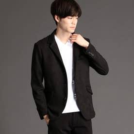 スウェード起毛デザインジャケット (49ブラック)