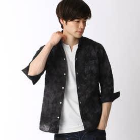 タイダイ染め七分袖シャツ (49ブラック)