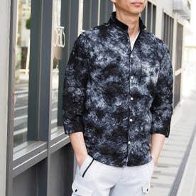 タイダイ染め七分袖シャツ (67ネイビー)