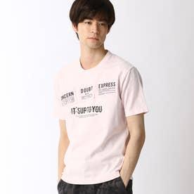 パッチワークロゴプリントTシャツ (08ピンク)