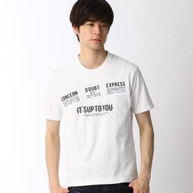 パッチワークロゴプリントTシャツ (09ホワイト)