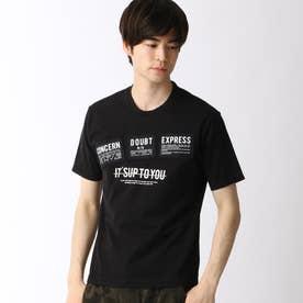 パッチワークロゴプリントTシャツ (49ブラック)