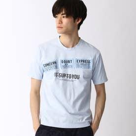パッチワークロゴプリントTシャツ (64サックス)