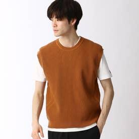 ニットベスト&Tシャツセット (13ブラウン)