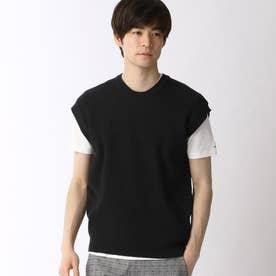 ニットベスト&Tシャツセット (49ブラック)